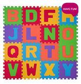 BabyOno Puzzle piankowe 16szt. LITERY 6m+