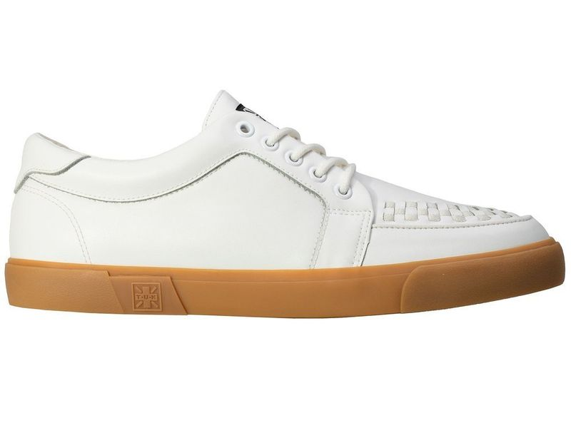 Buty TUK White Leather No Ring Vlk Sneaker A9185 46 na Arena.pl