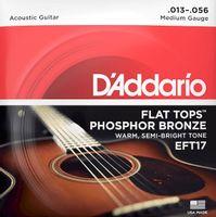 Struny do gitary akustycznej Daddario EFT17 13-56