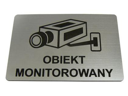 TABLICZKA informacyjna OBIEKT MONITOROWANY 10x15cm na Arena.pl