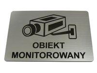 TABLICZKA informacyjna OBIEKT MONITOROWANY 10x5cm