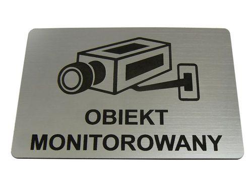 TABLICZKA informacyjna OBIEKT MONITOROWANY 10x5cm na Arena.pl