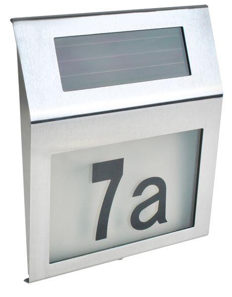 Podświetlany Numer Domu Solarna Lampa LED Metalowa 6783 zdjęcie 2