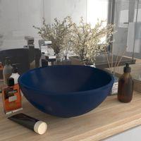 Okrągła umywalka łazienkowa, matowy granat, 32,5 x 14 cm