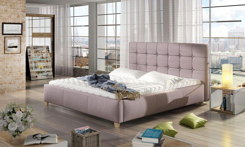Łóżko Tapicerowane TERESSA 160x200+ Stelaż zdjęcie 1
