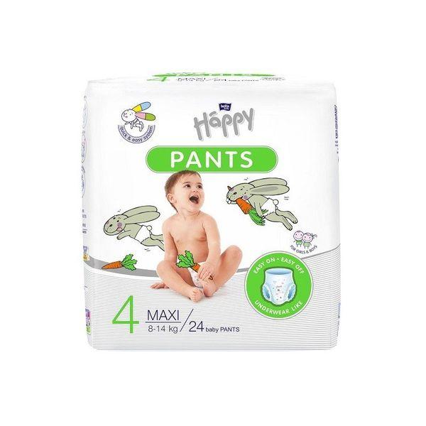 Pieluchomajtki dla dzieci Happy Pants Maxi 8-14 kg Folia 24 szt. na Arena.pl