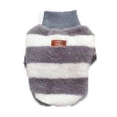 Elastyczny, mięciutki pulowerek w paski, szary L