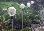 Lampa ogrodowa solarna LED w kształcie kuli (zmienia kolory) komplet 3 szt. D00751 zdjęcie 3