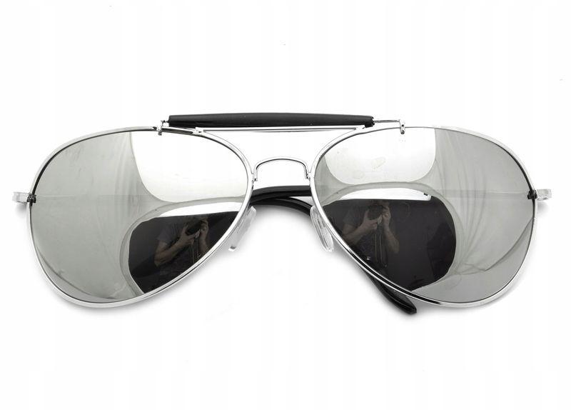 Aviator okulary przeciwsłoneczne pilotki metal zdjęcie 4