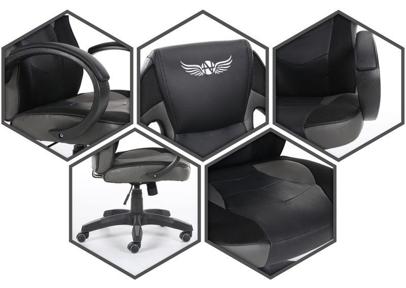 Obrotowy fotel gamingowy NORDHOLD - ULLR gracz - szary/gray zdjęcie 7