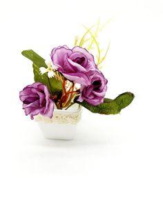 Magnes doniczka z kwiatami na lodówkę magnesy