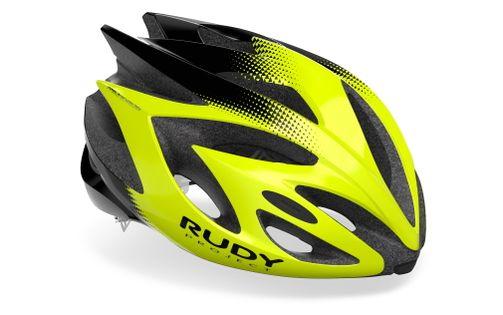 Kask rowerowy Rudy Project Rush Yellow Fluo - Black (Shiny) rozmiar M 54 – 58cm 2021
