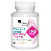 Witamina B complex B-50 Methyl TMG Plus 100 kapsułek Aliness