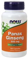 NOW FOODS Panax Ginseng (Żeń-szeń Koreański) 500mg 100kap