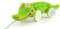 Duży Krokodyl do ciągnięcia na sznurku DJECO