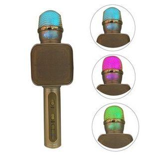 Bezprzewodowy mikrofon karaoke YS-68 3 kolory LED Kolor - Złoty