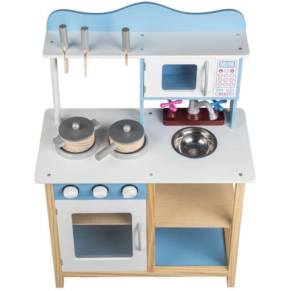 Drewniana Kuchnia Dla Dzieci Ecotoys 85 Cm Arena Pl