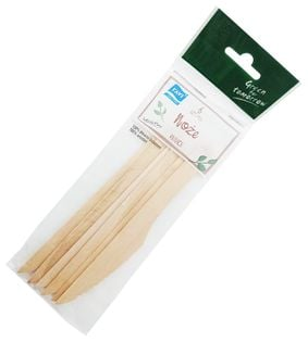 Noże drewniane 16cm 6szt jednorazowe