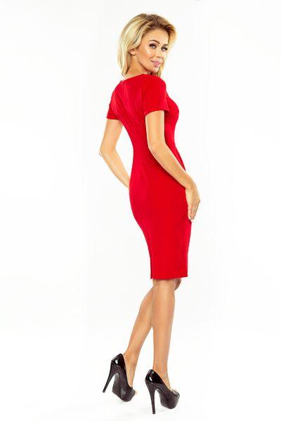 150-2 Sukienka DOROTA - elegancka - CZERWONA Rozmiar - XL zdjęcie 2