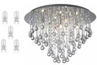 Plafon lampa 5xG9 Luca Chrom akryl Wyprzedaż -50%