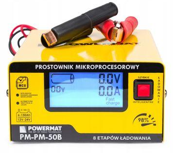 Prostownik MIKROPROCESOROWY Akumulatorowy 12V 24V 2 LATA GWARANCJA