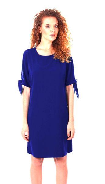 Luźna sukienka koktajlowa - chaber Rozmiar - 42 zdjęcie 1
