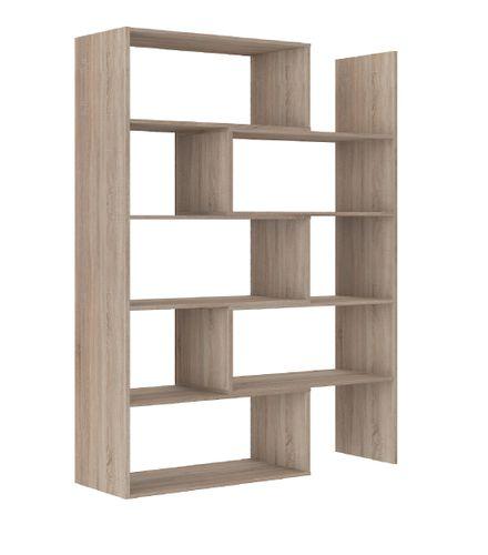 Duży regał do salonu LORA 02 sonoma regał na książki półki komoda na Arena.pl