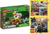 LEGO MINECRAFT 21140 KURNIK + 2 KATALOGI LEGO