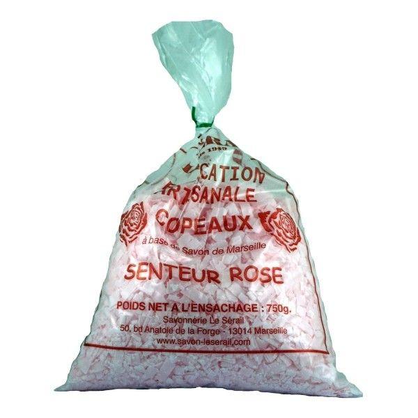 Płatki Mydlane na Bazie Mydła Marsylskiego - Róża - 750g - Le Serail zdjęcie 1
