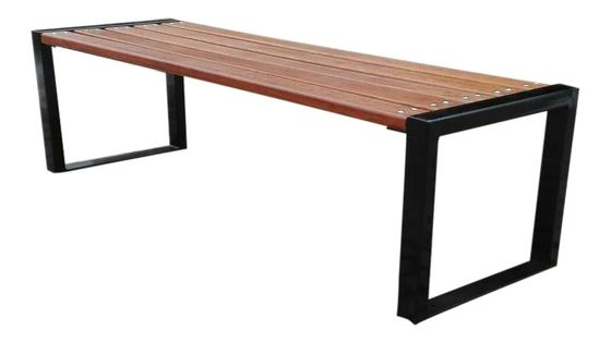 Ławka ogrodowa Fiemar FIEM-28-LN-150 150cm stalowa bez oparcia drewno świerkowe