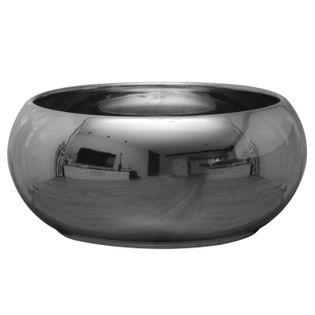 Doniczka Ceramiczna PIANO MISA D 24 H 10 srebrna glamour