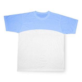 Koszulka Błękitna Sport Cotton-Touch Sublimacja Termotransfer L