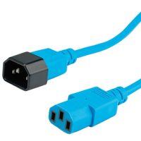 ROLINE Kabel zasilający do monitora IEC320 C14/C13 1.8m niebieski