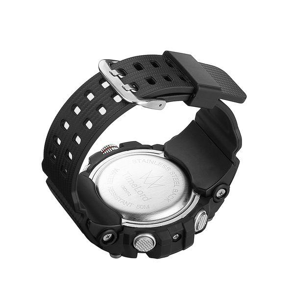 30bf950b0c9209 Najmodniejszy Zegarek Męski Elektroniczny Biały S-SHOCK Dwa Czasy zdjęcie 8
