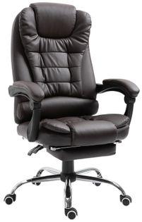 Biurowy fotel obrotowy ekoskóra. SL11. Ciemny brąz. Nowość