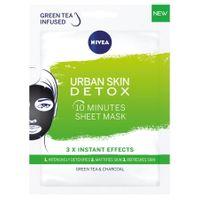 Nivea  Maseczka W Płachcie - Urban Skin Detoks - (Zielona Herbata I Węgiel Drzewny)