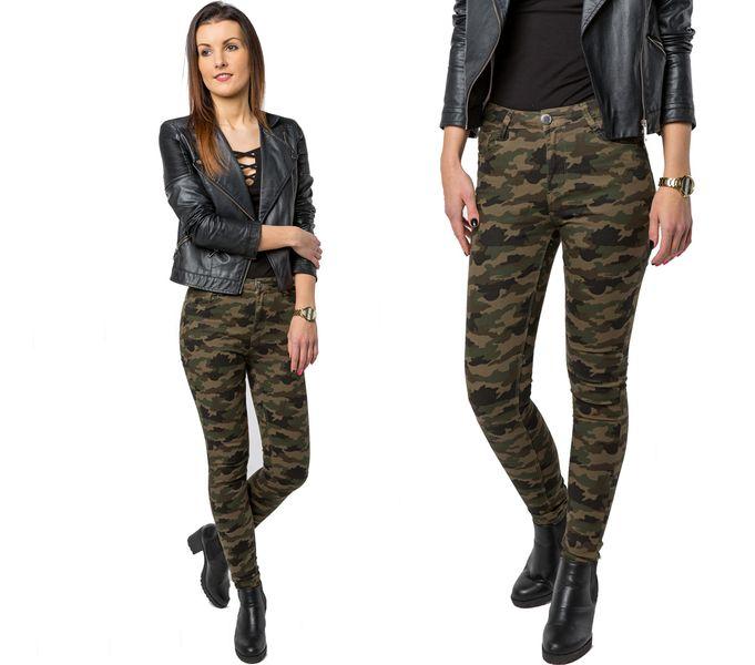 MORO SPODNIE jeansy MILITARY street 8768 M 29
