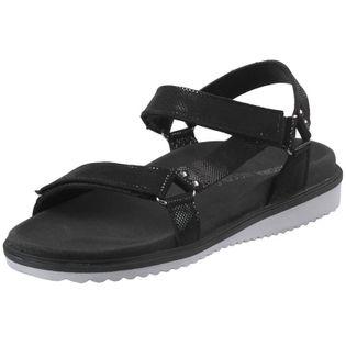 Czarne Sandały Zapinane Płaskie NIK 07-0293 37