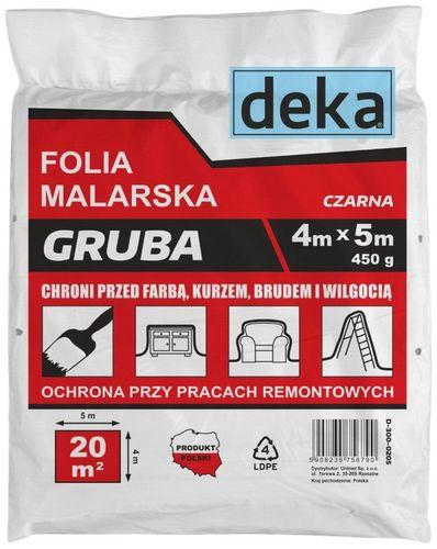 FOLIA MALARSKA GRUBA CZARNA 4*5M 450G uni na Arena.pl