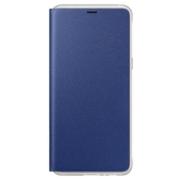 c4332661e7 Samsung Neon Flip Cover etui pokrowiec z neonową ramką Samsung Galaxy A8  2018 A530 niebieski (