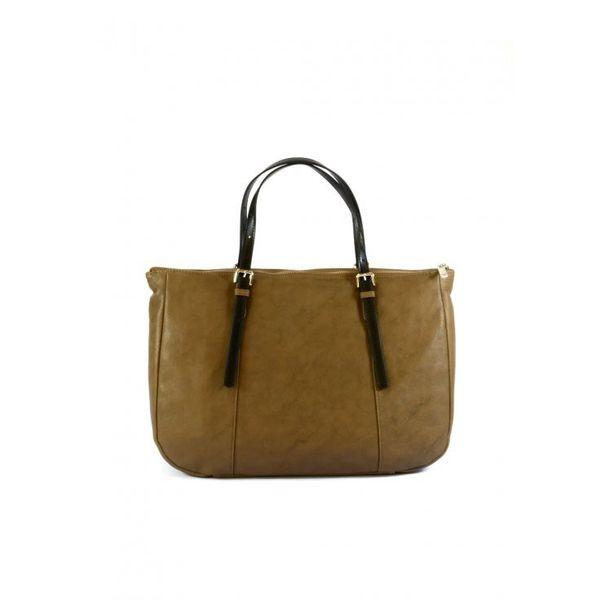 Armani Jeans torebka damska skórzana brązowa shopper na ramię zdjęcie 3