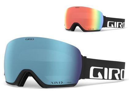 Gogle zimowe GIRO ARTICLE BLACK WORDMARK (Szyba lustrzana kolorowa VIVID-Carl Zeiss ROYAL 14% S3 +Szyba lustrzana kolorowa VIVID-Carl Zeiss INFRARED 52% S1) (NEW)
