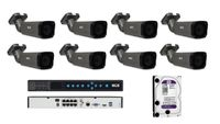 BCS-P-4421RSA-G Zestaw BCS POINT 8 kamer 2 Mpx 4TB  Rejestrator PoE.