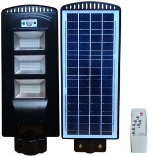 Lampa uliczna LED latarnia solarna 60W + Montaż Pilot
