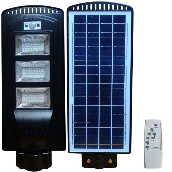 Lampa uliczna LED latarnia solarna 60W + Montaż Pilot zdjęcie 1