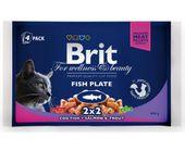 Brit Premium Cat Adult Fish Plate saszetki 4x100g
