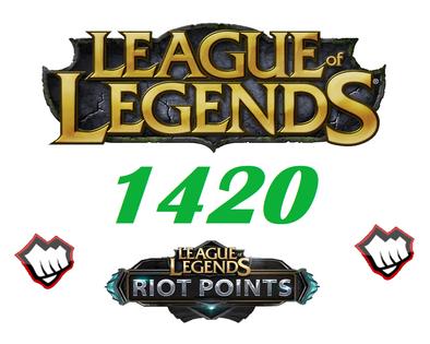 League of Legends 1420 Riot Points RP Europa NordicEast NE