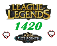 League of Legends 1420 Riot Points RP Europa NordicEast NE