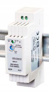 Zasilacz do taśm LED na szynę DIN 1,25A 15W 12V