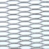 Siatka zderzaka aluminiowa plaster miodu Srebrna Kamei 30 x 10 mm